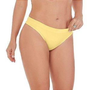 Calcinha Zee Rucci Zr0201 Tanga Sem Costura Amarelo