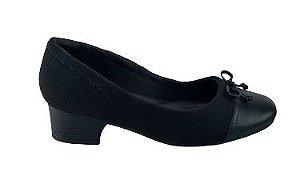 Sapato Comfortflex Salto Grosso 20-86302 - Preto