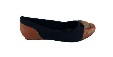 Sapatilha Comfortflex Bico Redondo 20-84305 - Castor Preto