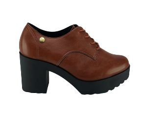 Sapato Oxford Tratorado Moleca Salto Medio Grosso 5647.211