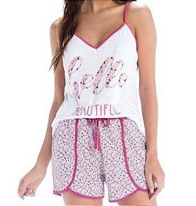 Pijama Zee Rucci 3204-005 Curto Alcinha Algodao