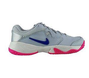 Tenis Nike Court Lite 2 Pure Platinum Rosa Azul Feminino