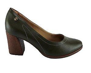 Sapato Comfortflex 20-78301 Cores - Folha/preto