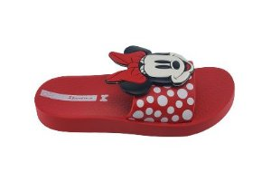 Chinelo Infantil Disney 26424 - Vermelho/branco/preto