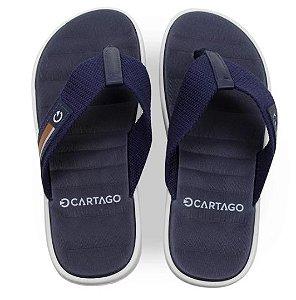 Chinelo Cartago Capri Vii Masculino 11634 - Cinza/azul