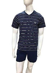 Pijama Paulienne H.1115.61.b Bermuda Curta Camiseta Algodao