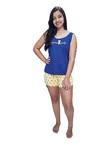 Pijama Paulienne F.117.61 Short Doll Regata Algodao Abacaxi