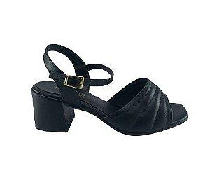 Sandalia Salto Quadrado Feminina Luma Luz L224 Sintetico Pu