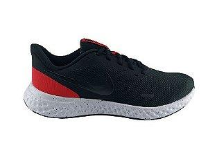 Tenis Masculino Nike Revolution 5 - Preto/vermelho