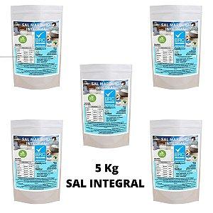 5kg Sal 100% Puro Mineral E Integral  Marinho Moído Mossoró Com Ludo Técnico Da Embalagem