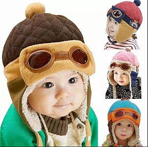 Boina Chapéu Bonés Crianças Infantil Inverno Piloto Aviador Modelo 1
