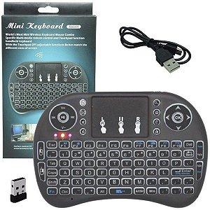Mini Teclado Wireless Keyboard I8 Smartv Box Xbox Ps Pc Wifi Entre Outros Aparelhos Eletrônicos