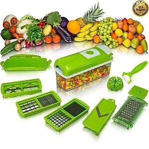 Cortador Fatiador  E Descascador 10 Em 1 Nicer Dicer Cozinha Vegetais Entre Outros Alimentos