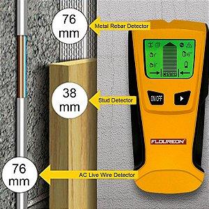 3 em 1 Detector De Metais Madeira E Fios Energizados Detecta Ferro Em Coluna Canos De Cobre E Metais Em Geral (NÃO DETECTA PLASTÍCO OU PVC E NEM ÁGUA)