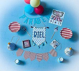 Festa na caixa aniversário infantil tamanho P