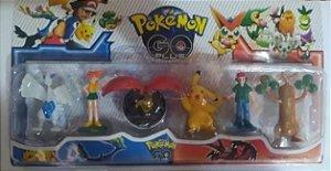 1 Cartela Pokémon Go Plus Pikachu Lugia Pokébola Ash Misty