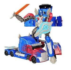 Boneco Transformers Optimus Prime Voyager Escudo Azul Lider Autobots Jinjiang 19cm