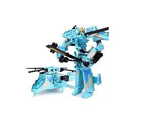 Boneco Transformers Drift Helicóptero Azul Decepticons Samurai Action Figures Jinjiang 21cm