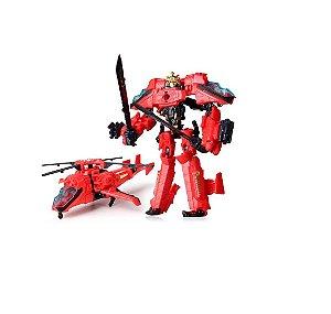 Boneco Transformers Drift Helicóptero Vermelho Decepticons Samurai Action Figures Jinjiang 21cm