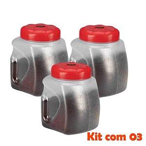 Kit 3 Pote Porta Café 2,2 Litros Plástico Com Colher Dosadora Cozinha - 435/3 Sanremo