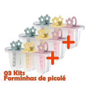 Kit 3 Formas Sorvete Picolé Paleta Geladinho Infantil Livre Bpa - 328 Sanremo