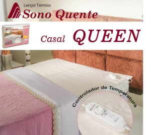 Lençol Térmico Casal Queen 16 Temperaturas Potenciômetro com Inmetro - Sono Quente - 110