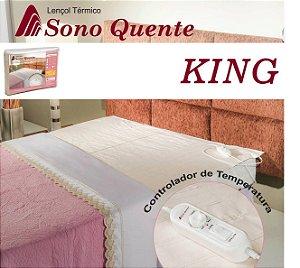 Lençol Térmico Casal King 16 Temperaturas Potenciômetro com Inmetro - Sono Quente - 110v