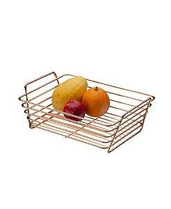 Cesto de Frutas Para Bancada Multiuso Rosé Gold 5988rg - Future