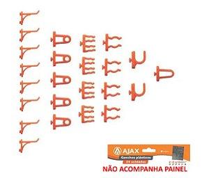 24 Ganchos Plásticos Para Painel Organizador Ferramentas Separados Parede - A06305 Ajax