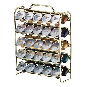 Organizador Porta 50 Capsulas Café Nespresso Dourado 1147DD - Future