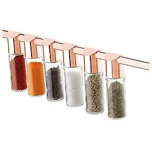 Porta Condimentos Temperos Organizador Cozinha Rose Gold 2421Rg - Future