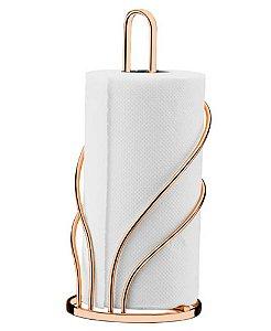 Porta Rolo de Papel Toalha de Bancada Rosé Gold 1603rg - Future