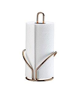 Porta Rolo Papel Toalha Suporte Bancada De Cozinha Rosé Gold - 1191RG Future