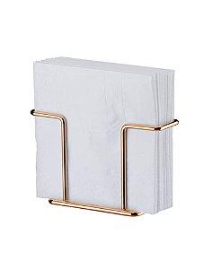 Porta Suporte Guardanapos Aço Rosé Gold 1155rg - Future