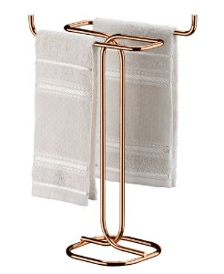 Porta Toalha De Bancada Toalheiro Duplo Rosé Gold 1177rg - Future