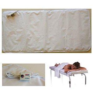 Lençol colchonete térmico elétrico para maca 1,70x0,70m Impermeável Acolchoado Terapias Massagens E841 - Sonobel - 110v