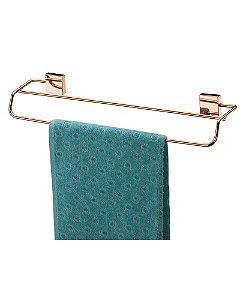 Porta Toalha Toalheiro 45cm Duplo de Parede Rosé Gold 7508rg - Future