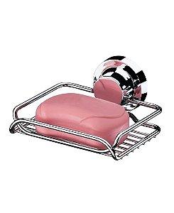 Saboneteira Banheiro Porta Sabonete Com Ventosa Cromada 4053 - Future