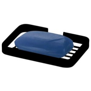 Saboneteira De Parede Porta Sabonete Barra Banheiro Preto Fosco - 2302PT Future