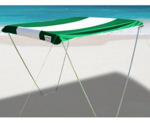 Tenda Gazebo Riviera Praia Camping Jardim Sombreiro 2,3m x 2,3m Verde - Zaka