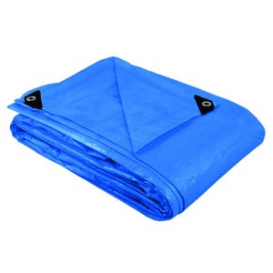 Lona Azul 2x2m Ilhós Piscina Cobertura Toldo Camping 200 Micra Reforçado - A08078 Ajax