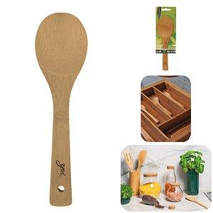 Colher De Bambu 23cm Espátula Madeira Utensílio Cozinha Gohan Tyft - Yoi