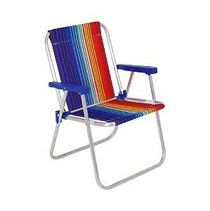 Cadeira Alta Alumínio Praia Camping Piscina Jardim Oxford Sortida - 024500 Belfix