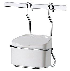 Saleiro Plástico Porta Sal 500g Com Suporte Para Barra Cozinha - 2410 Future
