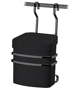 Suporte Com Lixeira 2,5 Litros Para Barra Parede Cozinha Onix Preto - 2809OX Future