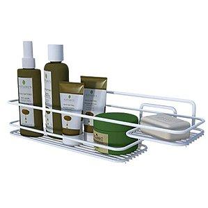Suporte Porta Shampoo Saboneteira Prateleira Banheiro Parede Branco Boa Dica - Dicarlo