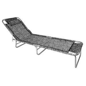 Cadeira Espreguiçadeira Slim Alumínio Zebra Ajustável Piscina Praia - Zaka