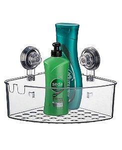 Suporte Porta Shampoo Prateleira De Canto Banheiro Com Ventosa Natural - 401NT Future