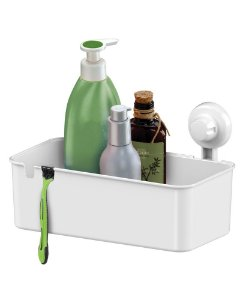 Suporte Porta Shampoo Cesto Multiuso de Parede com Ventosa 403bc - Future