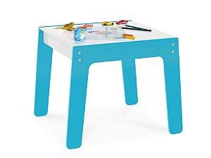 Mesa Mesinha Infantil Brinquedo Para Criança Mdf - Junges - Azul